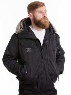 Куртка-пилот 7.26 (037) капюшон/мех зима черный