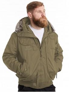 Куртка-пилот 7.26 (037) капюшон/мех зима песок