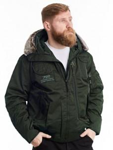 Куртка-пилот 7.26 (037) капюшон/мех зима олива