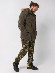 Куртка Armed Forces  утепленная/мех олива
