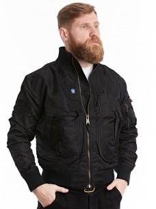 Куртка-пилот 7.26 (056) ворот/трикотаж черная