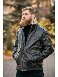 Лётная куртка-пилот кожа коричневая