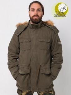 Куртка AF утепленная/мех олива