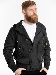 Куртка-пилот 7.26 (076) Army капюшон черная