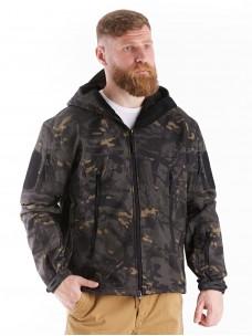 Куртка софтшелл черный камуфляж