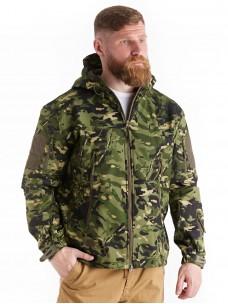 Куртка софтшелл зеленый мультикам