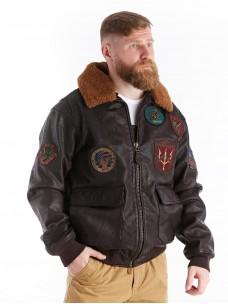 Куртка лётная кожаная G-1 Top Gun brown